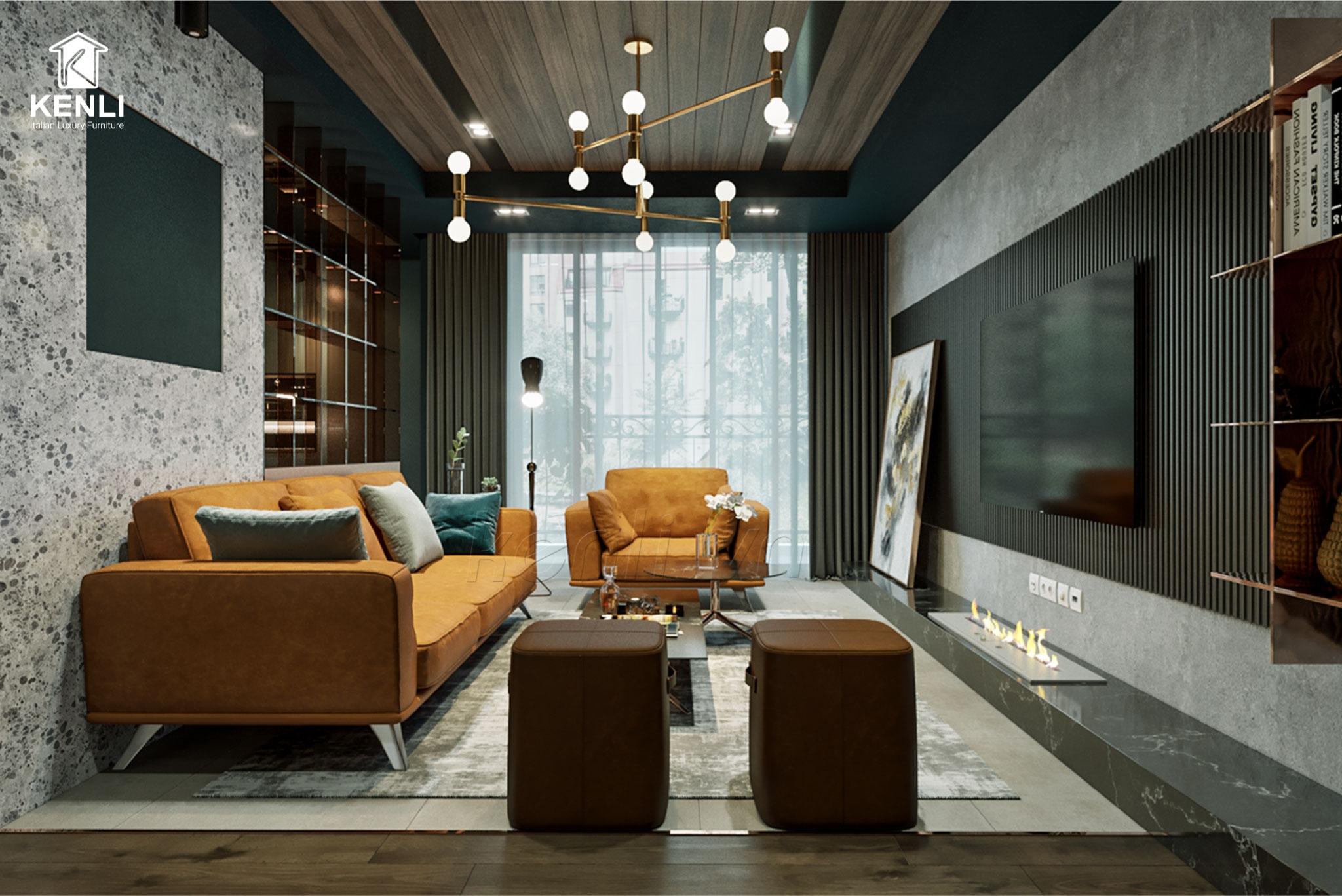 Sofa F019 nội thất nhập khẩu