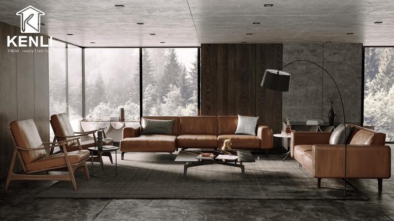 Phòng khách đẹp phong cách Italia hiện đại