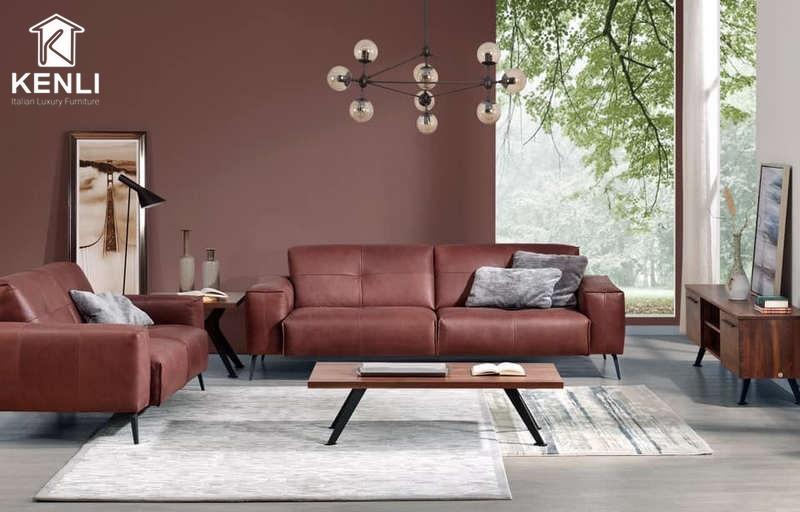 Sofa da thật F002