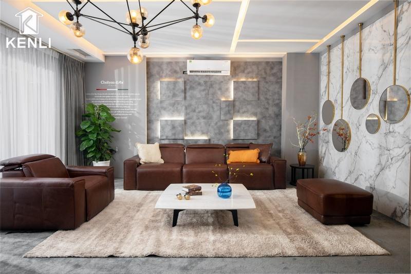 Ghế sofa có động cơ cho phòng khách hiện đại