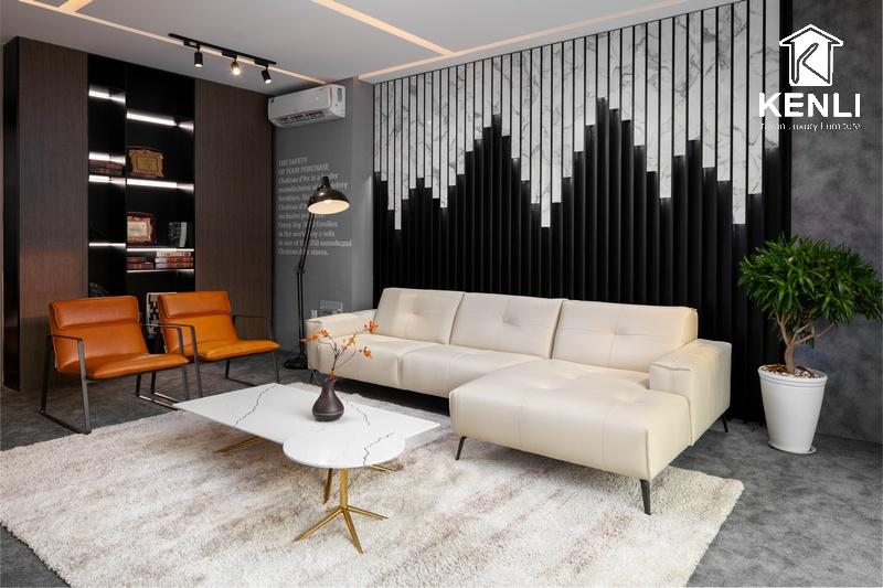 Ghế sofa da thật từ thương hiệu M&D