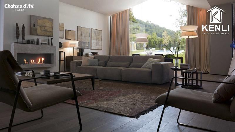 Ghế sofa Host có thể biến văng thẳng thành văng góc chỉ bằng 1 nút chạm