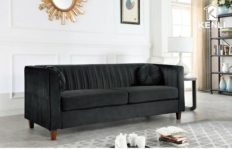 Sofa vải màu đen 4