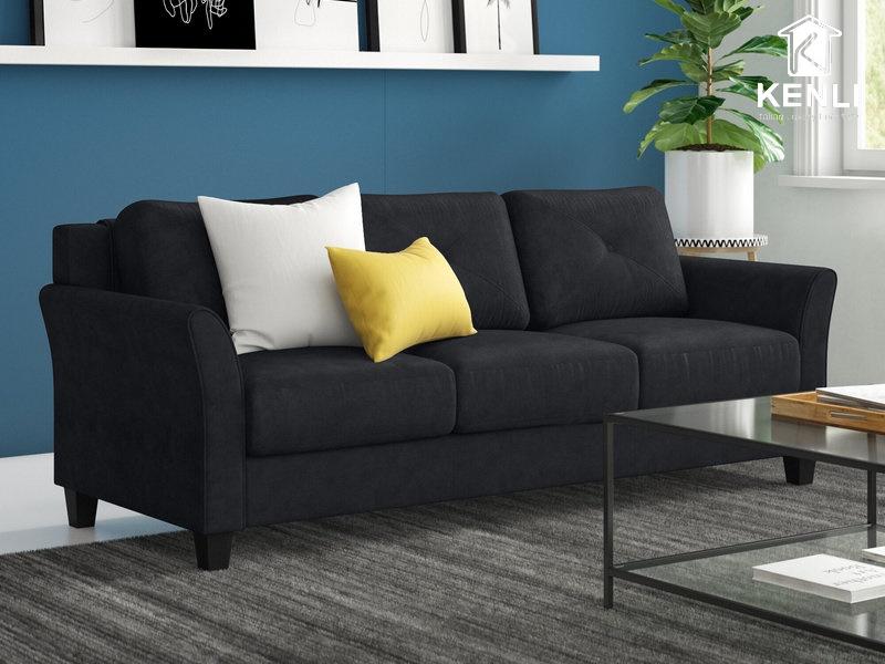 Ghế sofa vải màu đen