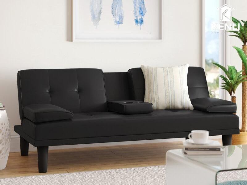 Sofa vải màu đen 3