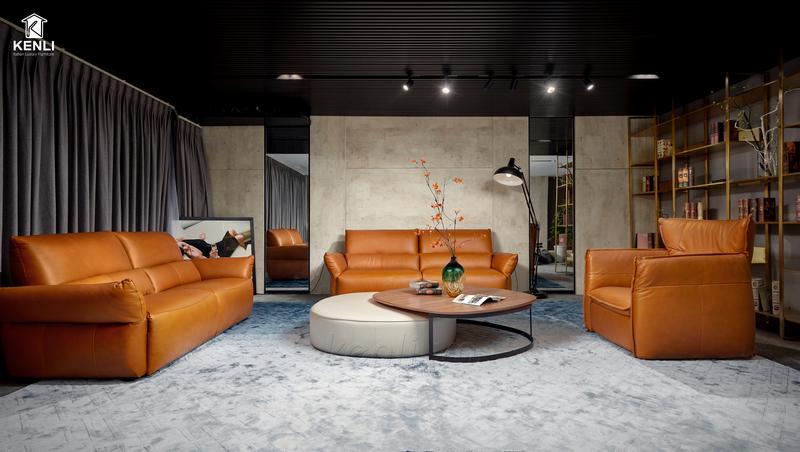 Ghế sofa da thật nhập khẩu Italia