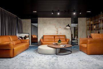 11 mẫu Sofa da văng thẳng cho phòng khách hiện đại