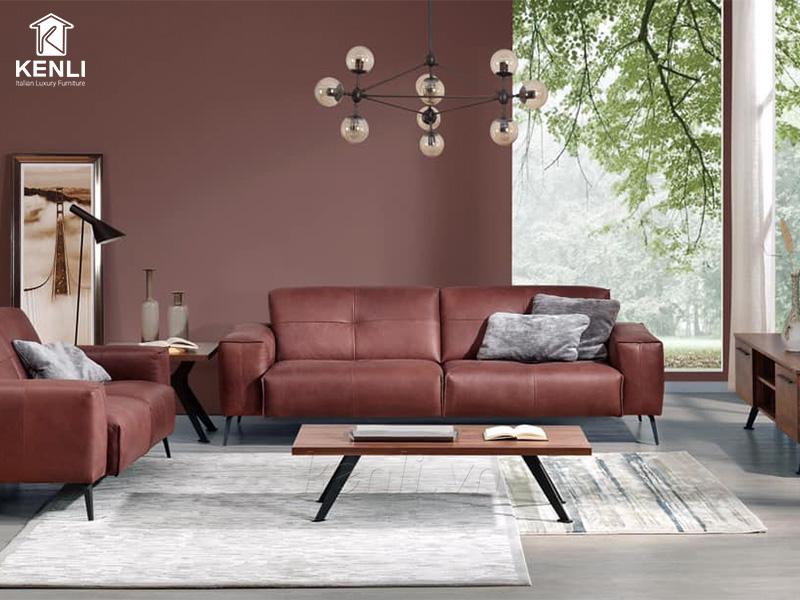 Sofa da thật OSLO F002 văng 2 lớn2