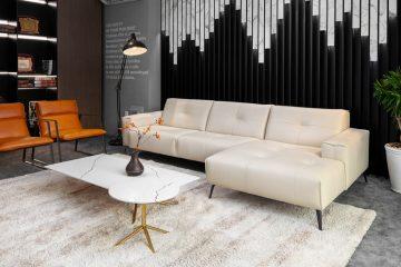 Sofa da thật OSLO F002 văng L3