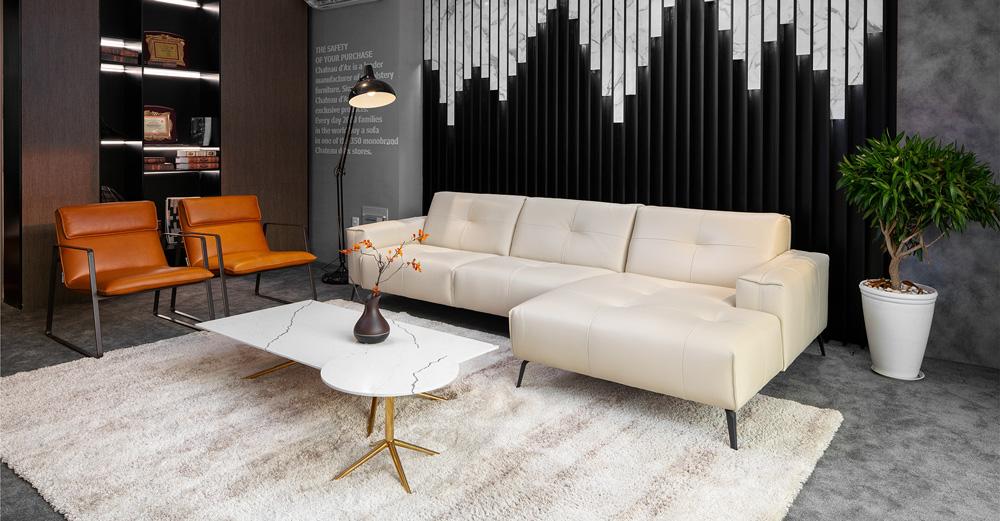 sofa da thật cao cấp F002