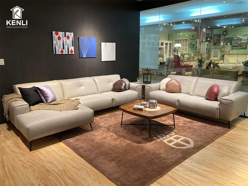 Sofa da thật OSLO F002 văng 2 lớn4