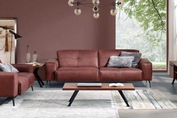 Sofa da thật OSLO F002 văng 2 nhỏ;