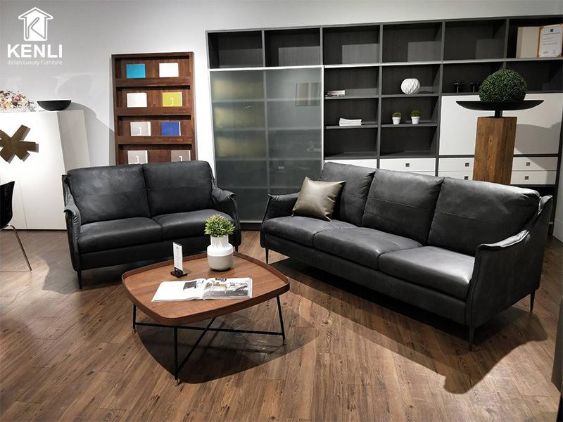 Ghế sofa da Ý cao cấp F010