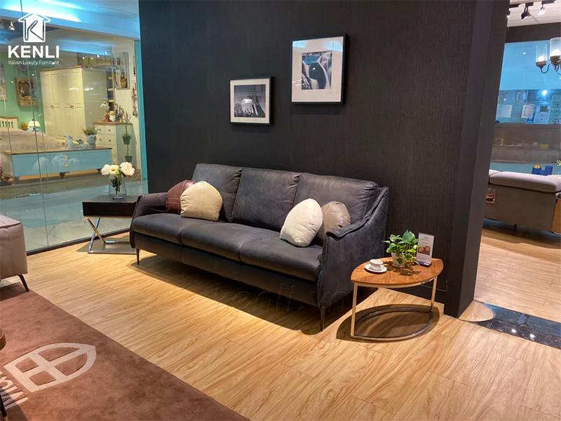 sofa da Ý cao cấp F010