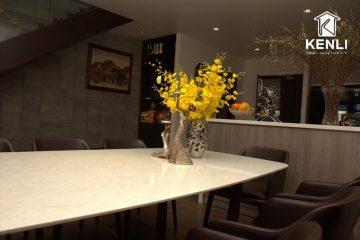 Bàn ăn Concorde, ghế Grace tinh tế tại nhà khách ở Hoàng Như Tiếp