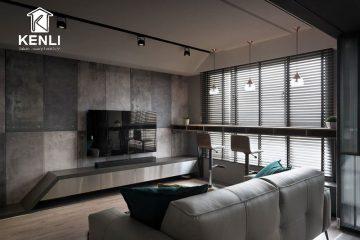 Thiết kế nội thất chung cư ấm áp với chất liệu gỗ tự nhiên