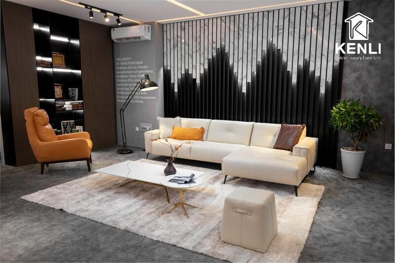 Bộ đôi bàn ghế sofa phòng khách cao cấp