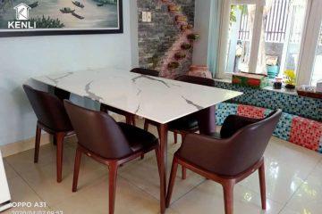 Bộ đôi bàn ghế ăn Kenli góp phần tạo nên không gian nghệ thuật