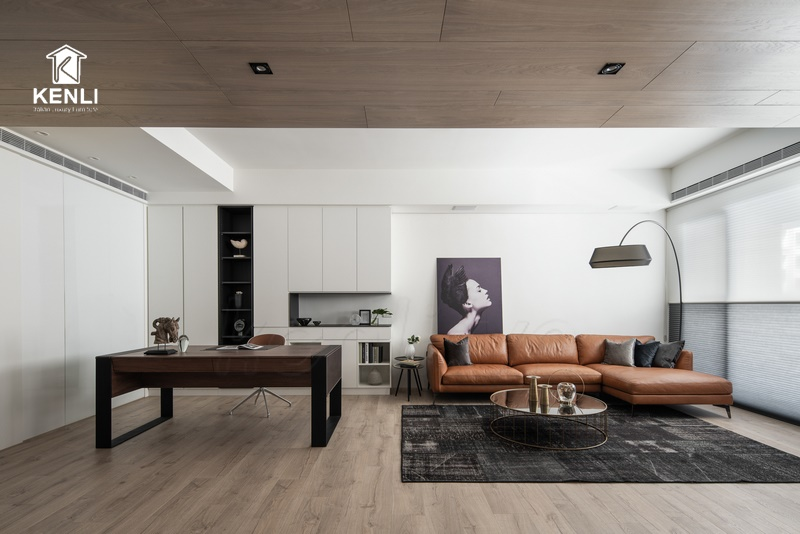 Căn hộ hiện đại ấm cúng với ghế sofa da từ Milano & Design