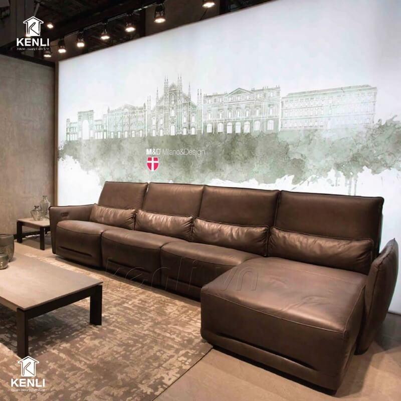 Ghế sofa da thật nhập khẩu FE04