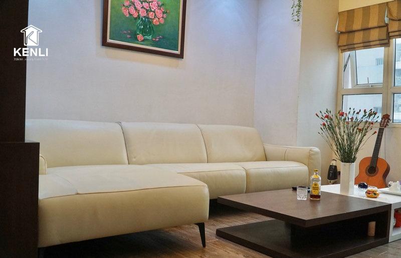 Sofa da thật E119 tại nhà khách