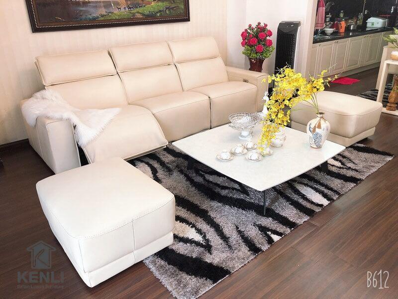 Ghế sofa da thật EE87 và Bàn trà Baba