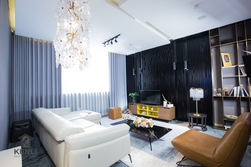 Ghế sofa da thật nhập khẩu M&D F021