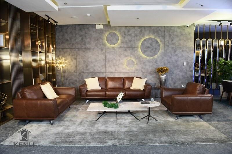 Trải nghiệm sofa da thật GEMMA (F019) từ thương hiệu M&D