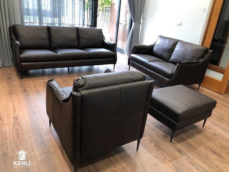 Chiêm ngưỡng Sofa da thật Simple F010 tại nhà khách