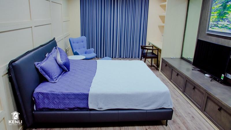 Giường bọc da cao cấp Piega