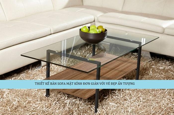 10 mẫu bàn sofa mặt kính