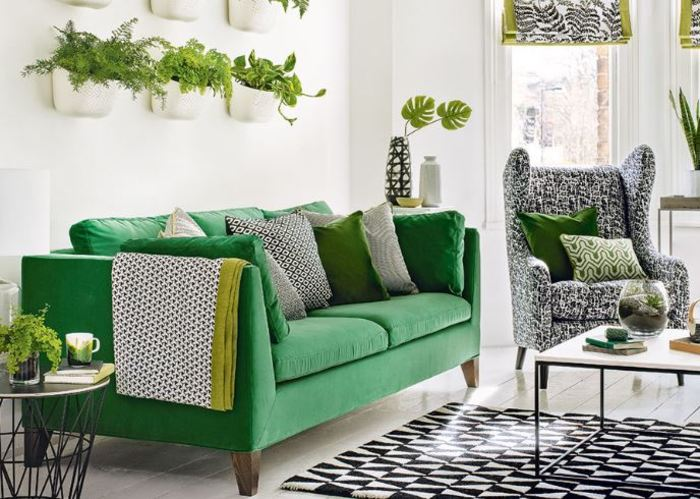 Mẫu sofa bọc nỉ này là một trong những thiết kế dễ thương