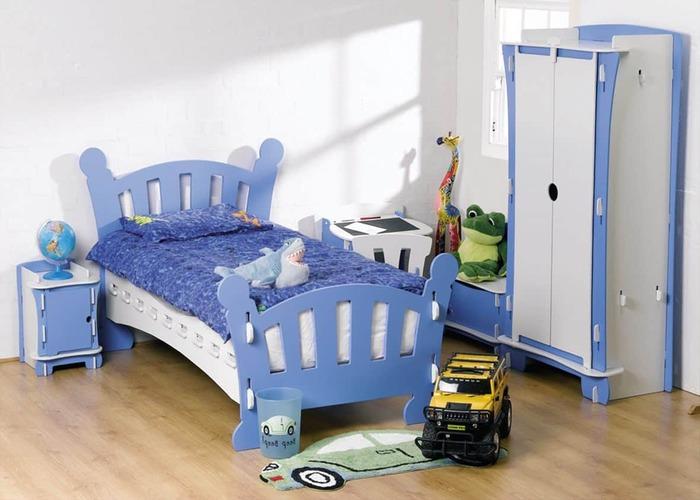 Mẫu giường ngủ đơn giản dành cho bé trai
