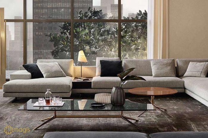 10 mẫu bàn sofa mặt đá cao cấp