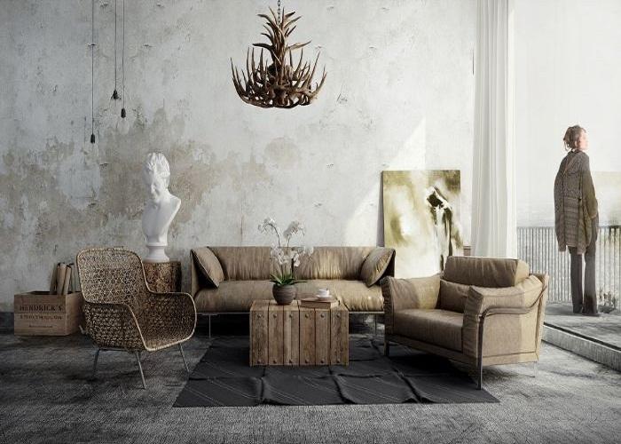 Bộ Sofa phong cách Rustic triển lãm nghệ thuật