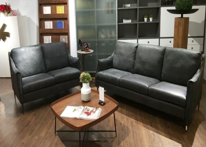 Bộ Sofa phong cách tối giản màu đen