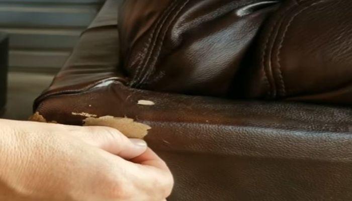 Kiểm tra phần da hư hỏng và làm sạch