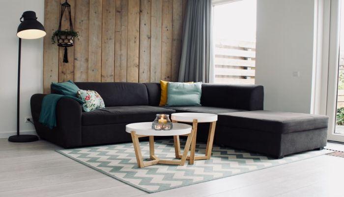Sofa đen lựa chọn không thể bỏ qua với phong cách Bắc Âu Scandinavian