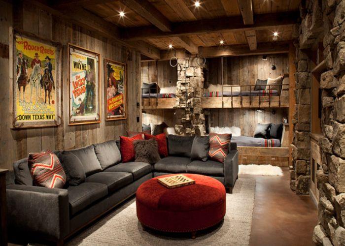 Mẫu Sofa L phong cách Rustic homestay