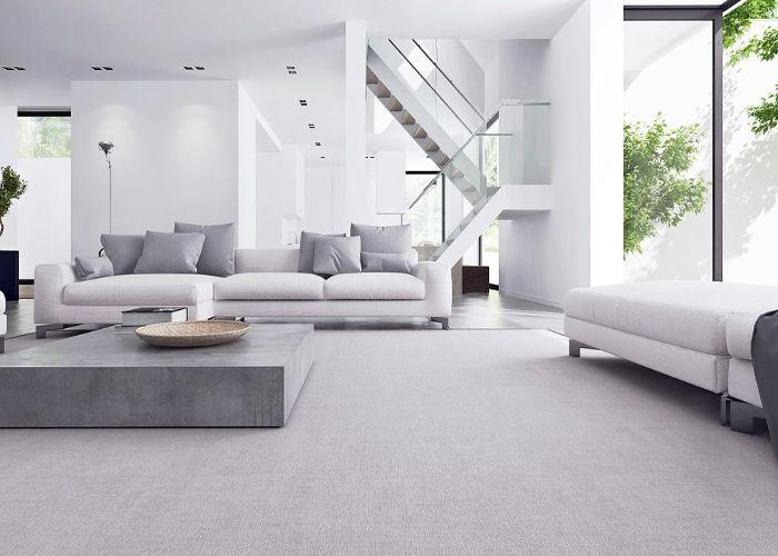 Mẫu Sofa L phong cách tối giản màu xám nhẹ