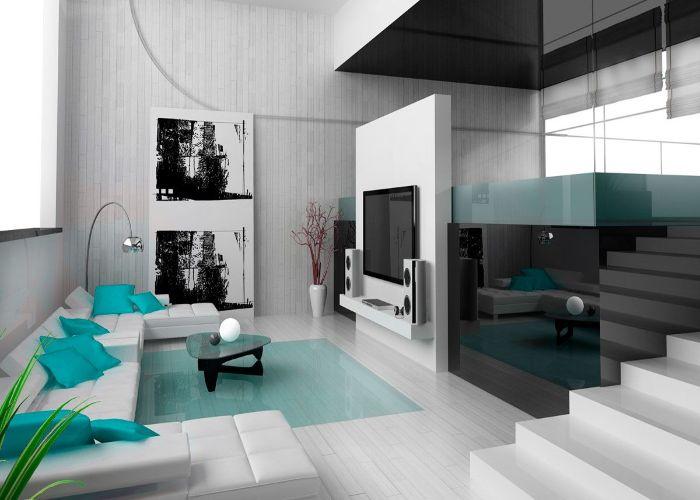 Mẫu Sofa chữ U phòng khách vuông vắn, thời thượng