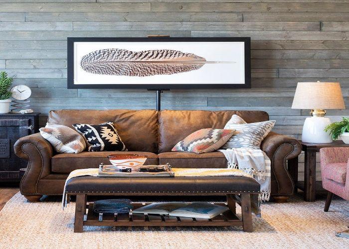 Mẫu Sofa đôi phong cách Rustic căn hộ nhỏ