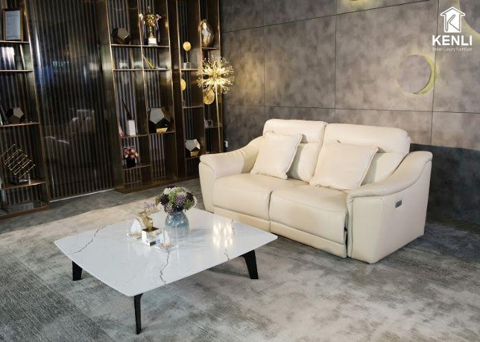 Mẫu Sofa đôi phong cách tối giản màu trắng