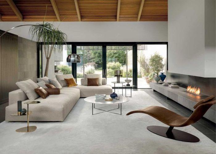 Mẫu Sofa góc cho phòng khách không gian mở