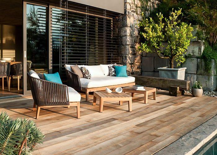 Mẫu Sofa kiểu nằm cho sân vườn