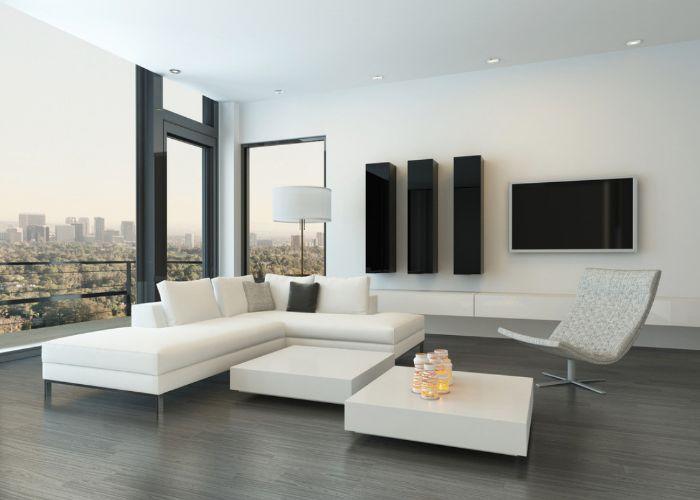 Mẫu Sofa phong cách Hi - Tech màu trắng sáng hiện đại