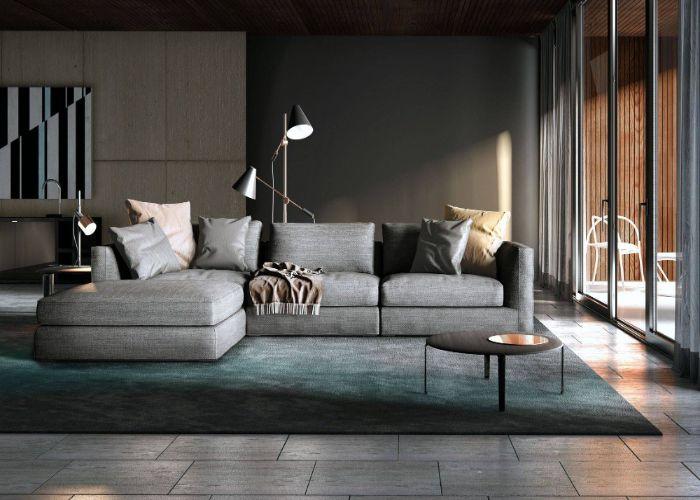 Mẫu Sofa phong cách Hi - Tech xám cao cấp