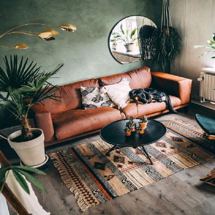 Mẫu Sofa phong cách Retro da thật
