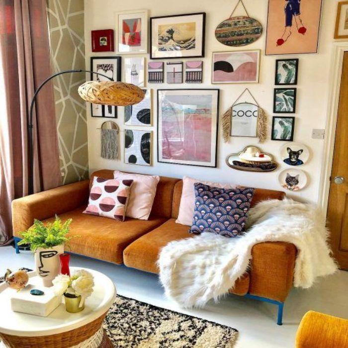 Mẫu Sofa phong cách Retro màu vàng bò