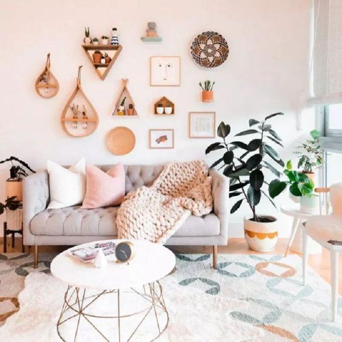 Mẫu Sofa phong cách Retro màu xám nhạt